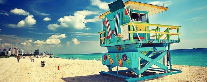 Sommerurlaub in Miami Beach