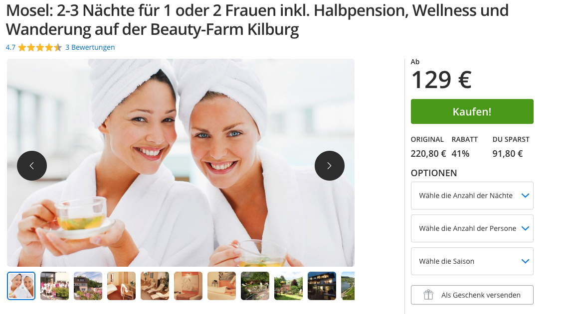 Girls Only! 3 Tage inkl HP, Wellness & Wanderung