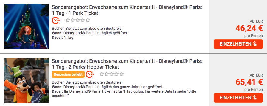Disneyland® Paris Tagesticket