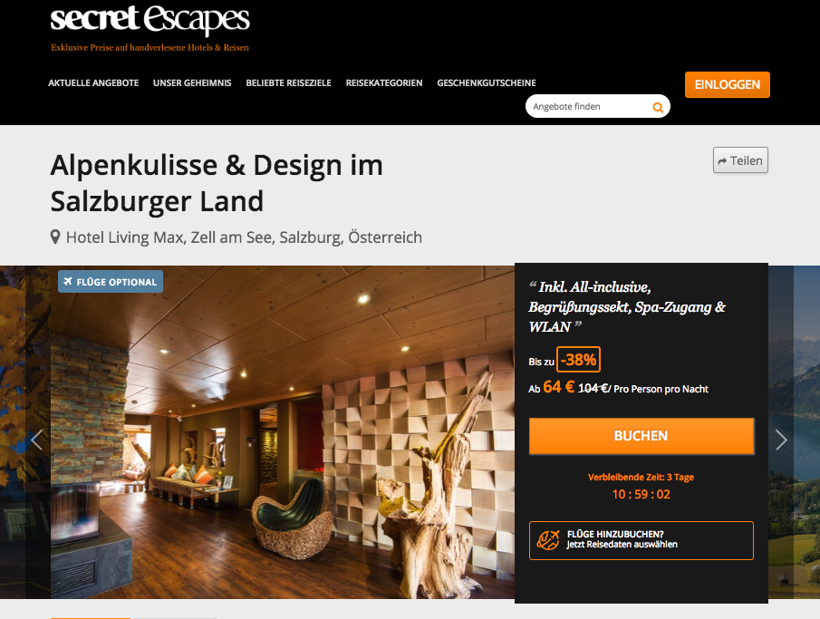 NUR HEUTE: All Inclusive in Zell am See