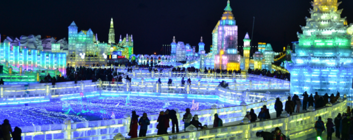 Das spektakuläre Harbin Eisfestival in China