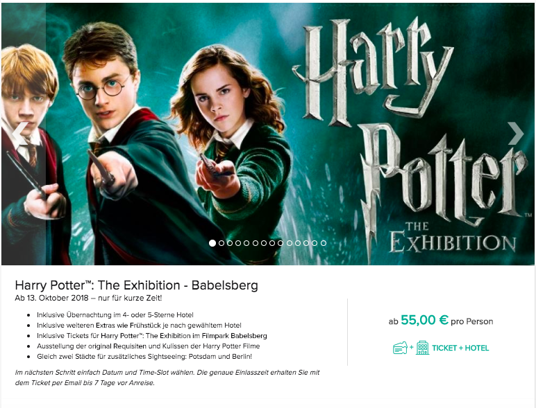 Harry Potter™ in Potsdam: interaktive Ausstellung in Babelsberg