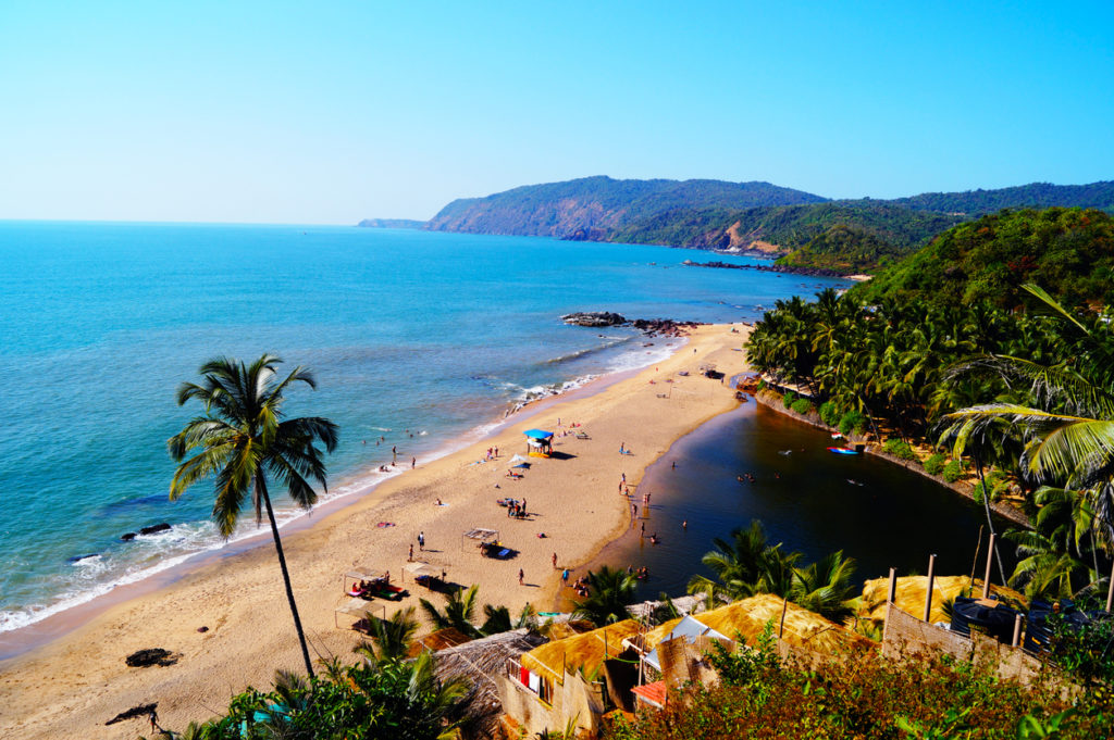 Cola Beach von Goa in Indien