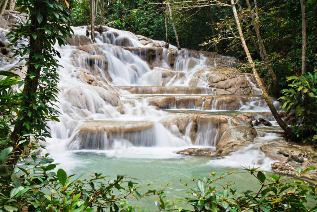 Dunn's River Fall in Ocho Rios, Jamaica