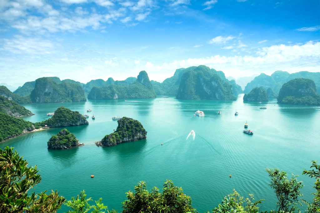 Die Halong Bay in Vietnam