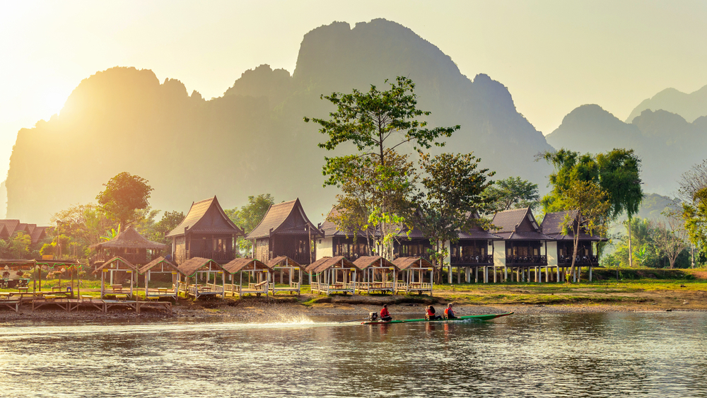 Der Nam Song Fluss in Laos