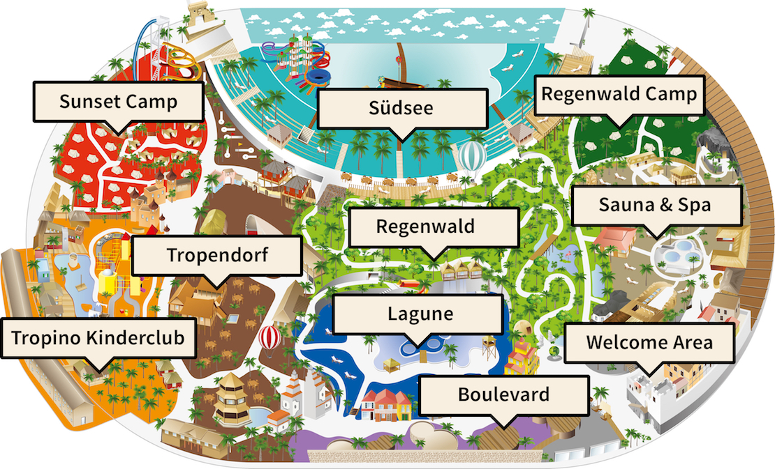 Tropical Islands Halle Lageplan