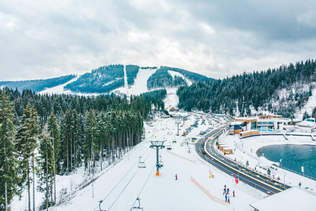 Skigebiet in der Ukraine - Bukovel