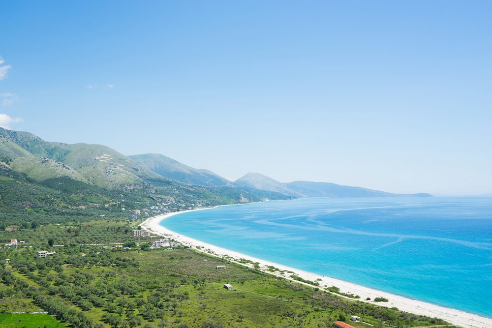 Borsh Beach in Albanien