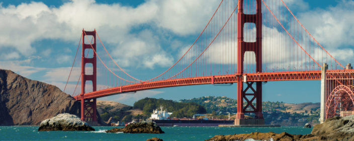 Golden Gate Bridge in San Francisco, Kalifornien