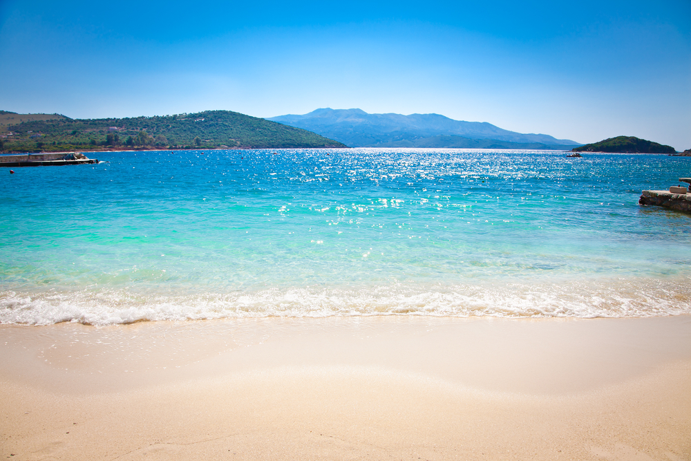 Ksamil Beach in Albanien
