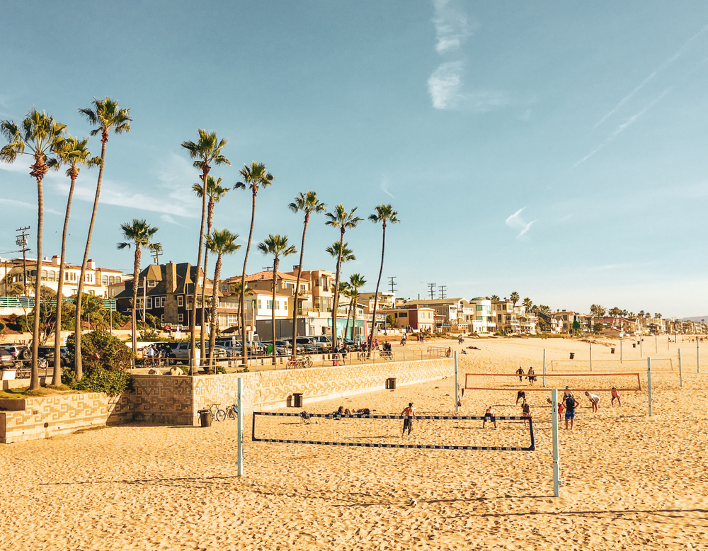 Der Manhattan Beach in Los Angeles, Kalifornien