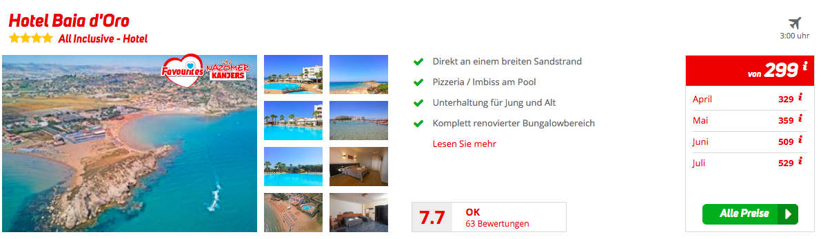 Sizilien All Inclusive Urlaub im Sommer