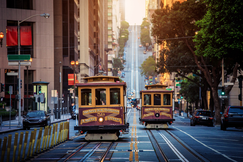 Die traditionellen Cable Cars in San Francisco