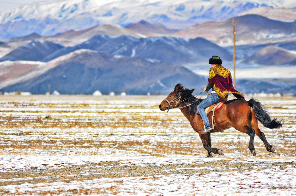 Winter in der Mongolei