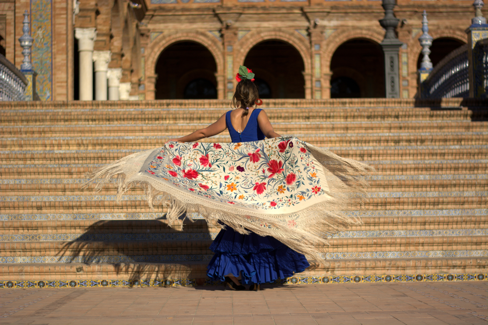 Traditionelle Flamenco Tänzerin in Sevilla