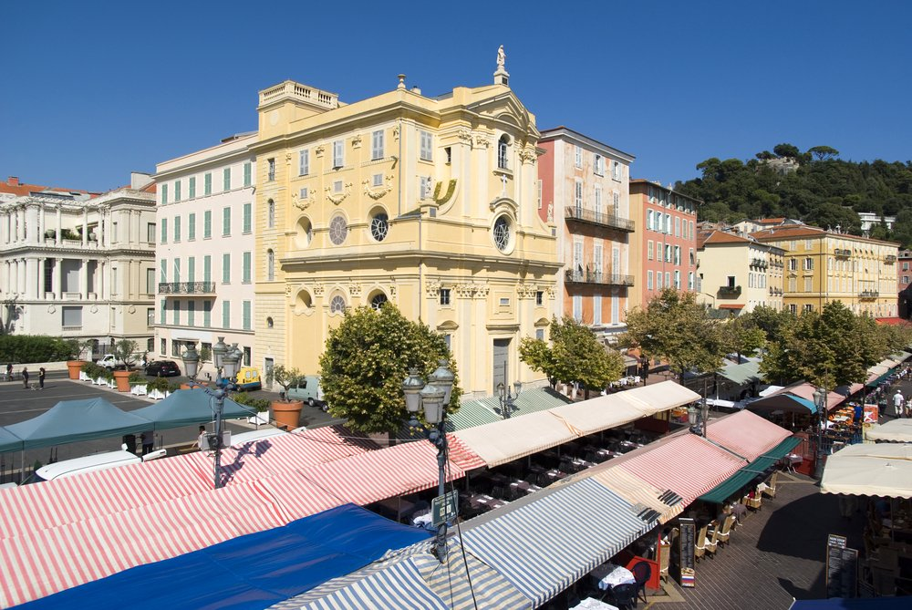 Marktplatz Cours Saleya in Nizza