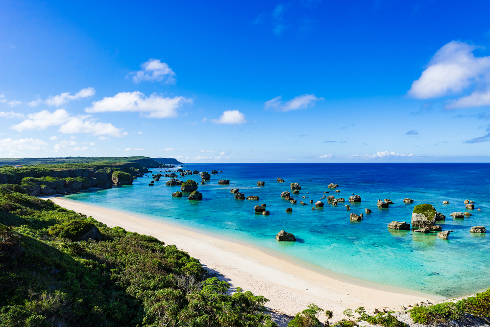 Shirahama Beach, Izu Peninsula in Japan