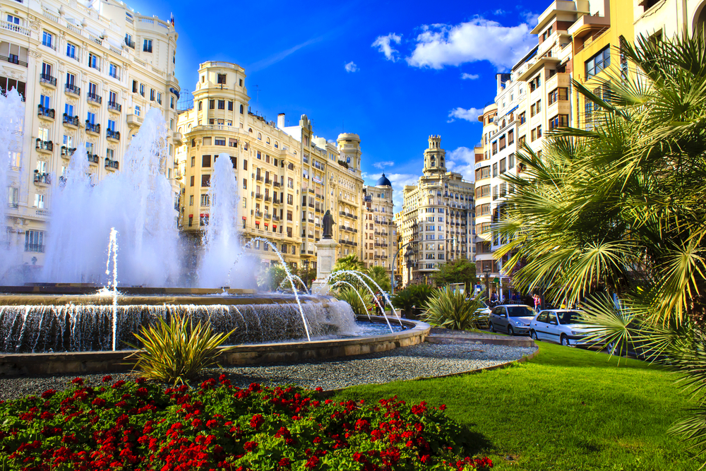 Rathausplatz in Valencia