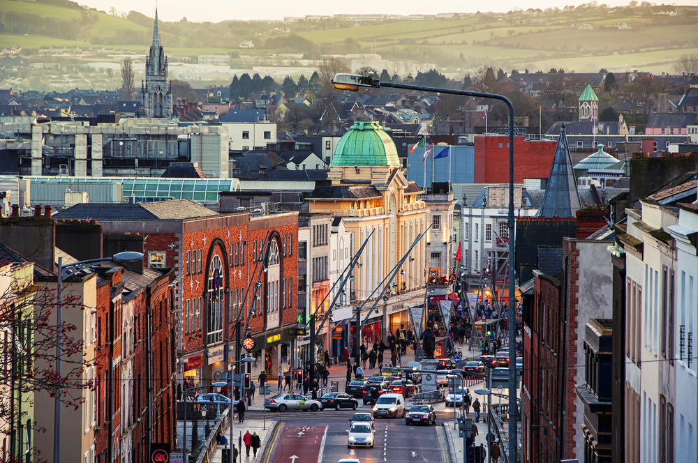 Straße in Cork, Irland
