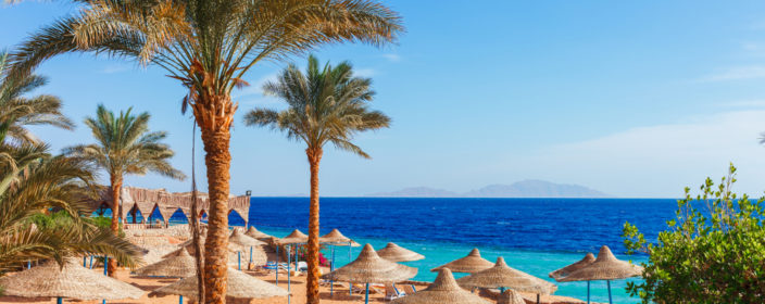 Hotelstrand in Hurghada