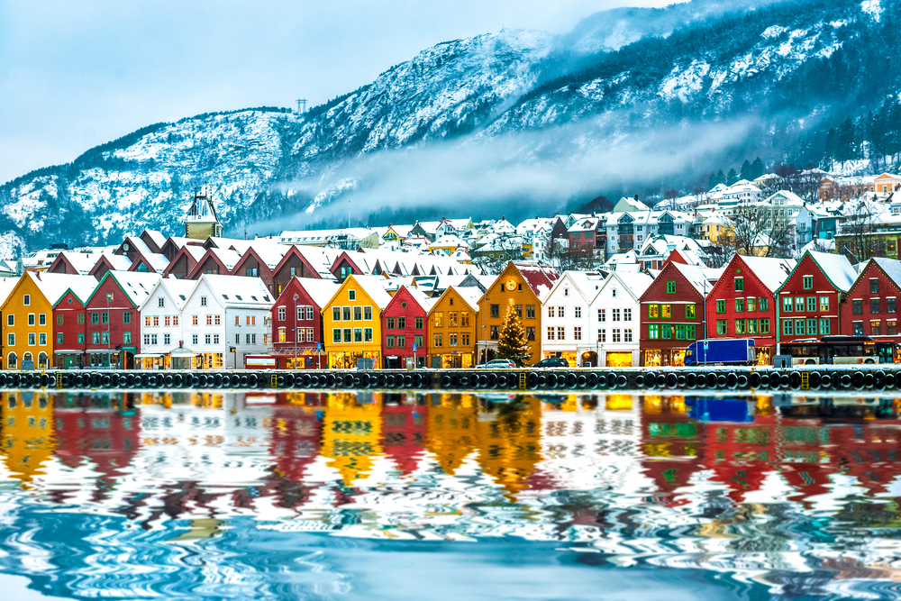 Bergen im Winter