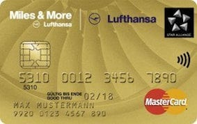 Miles and More Gold Kreditkarte Lufthansa