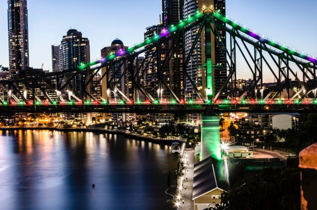 Brisbane, Story Bridge, Queensland, Nacht