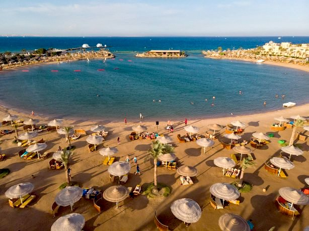 Privatstrand des Desert Rose Resort Hurghada