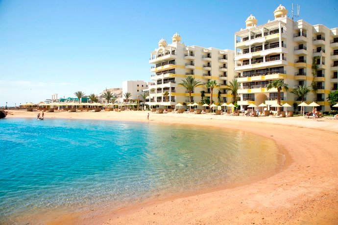 Lagune mit Privatstrand des SUNRISE Holidays Resort Hurghada
