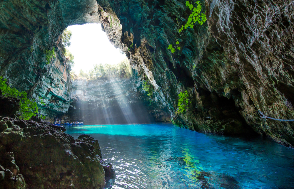 Griechenland, Melissani, See, Kefalonia