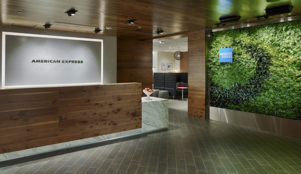 American Express Lounge Empfang