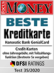 Focus Money Beste Kreditkarte Hanseatic Bank GenialCard